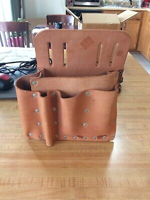 Tool Pouch Leather electrician AE Burgess Lea Co 1-80