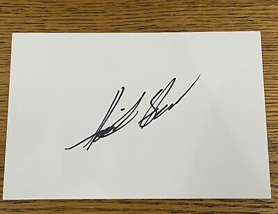HENRIK STENSON HAND SIGNED 6x4 WHITE INDEX CARD *OPEN MASTERS RYDER CUP GOLF