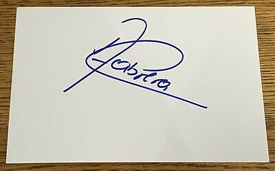 ANGEL CABRERA HAND SIGNED 6x4 WHITE INDEX CARD *OPEN US MASTERS RYDER CUP GOLF