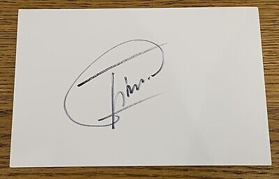 MIGUEL ANGEL JIMENEZ SIGNED 6x4 WHITE INDEX CARD *OPEN US MASTERS RYDER CUP GOLF