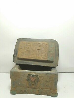 RARE ANTIQUE ANCIENT EGYPTIAN Jewelry Box Key Life King Tutankhamun 1240 Bc