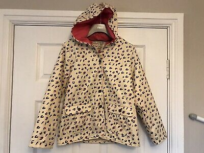 M&S Girls Leopard Print Rain Coat With Pink Lining Age 9-10