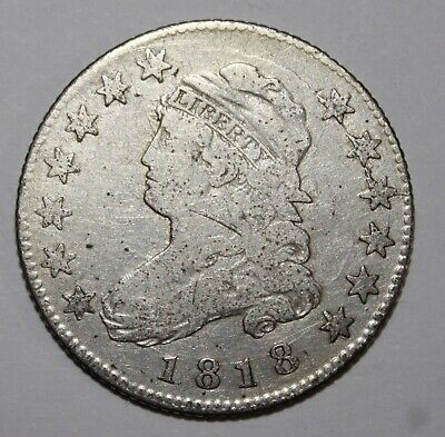 1818 Capped Bust Quarter **Free Shipping**
