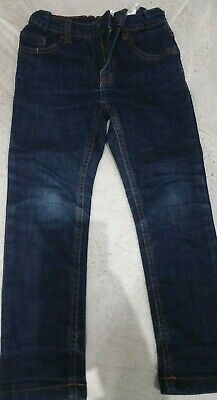 zara boys jeans size 5 years dark blue denim good condition elasticated waist