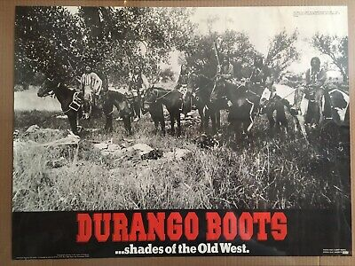 """Durango Boots Poster """"Shades Of The Old West"""" Ute Warriors"""