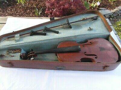 Lovely Old Violin By Mirecourt Factory Stradivarius Copy Circa 1920 Bow & Case
