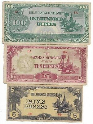 Rare Old Orig WWII Japan Occupation War Dollar Note WW2 Money Collection Set Lot