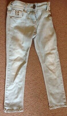 Girls age 6 River island  jeans elasticated adjustable waist, and stud detail,