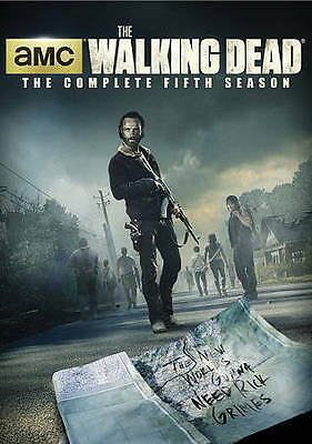 New Sealed The Walking Dead - The Complete Fifth Season DVD 5 *Note