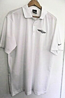 Nike Golf Mens Dri - Fit White Polo Short Sleeve Shirt With Logo Of Phillips 66