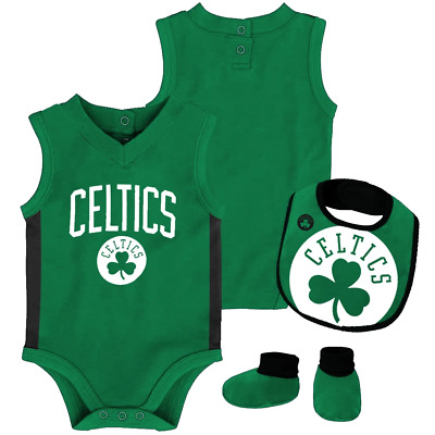 Boston Celtics Overtime Creeper Bib and Bootie Infant NBA Set