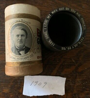 1909 Indestructible Cylinder record, Comic Song, Ex Cond, Free US Shipping!