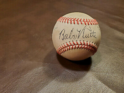 Babe Ruth/Ty Cobb/Lou Gehrig Red Stitched Autographed Baseball Reprint