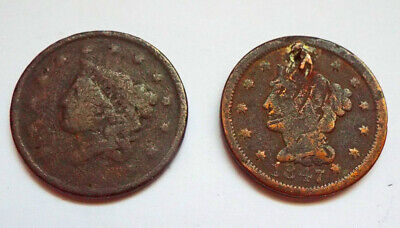 1837 & 47 Matron Head & Braided Hair Large Cent Lot Fillers