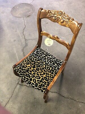 Vintage Reupholstered Chair Leopard shabby chic ARTECHO Collection