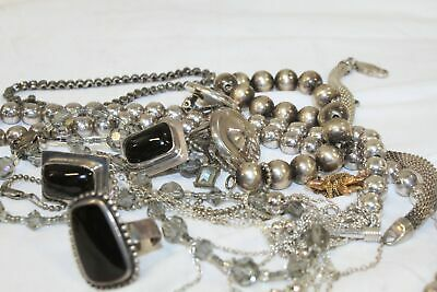 169.2 Grams of Silver 925, Damaged & Usable Jewelry For Wear, Pre-Owned.N3