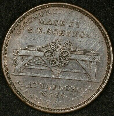 1834 W.p. Haskins Troy Ny Hard Times Token Low-80 Ht-157 Woodworth's Patent