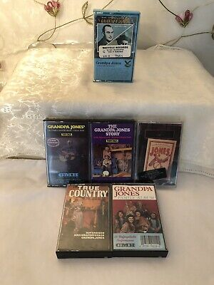 GRANDPA JONES Vintage Lot Of 6 Cassette Tapes! 1 Is New! LOOK! #261