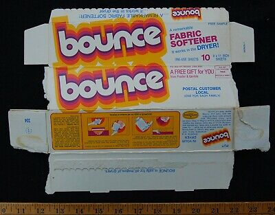 [ 1976 BOUNCE Fabric Softener Box - VINTAGE Product Packaging & Logo ]