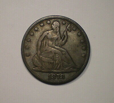 1878  Seated Liberty Silver Half Dollar with deep color.