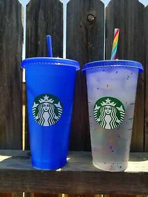 NEW Starbucks 2020 COLOR-CHANGING Reusable Cold Cups 24oz Rare Color Tumblers
