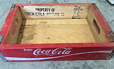 Coca Cola Coke Red Wooden Wood Crate Soda Pop Bottle Carrying Case