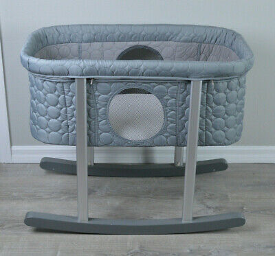 Green Frog Gray Bassinet pre-owned in perfect condition 👍