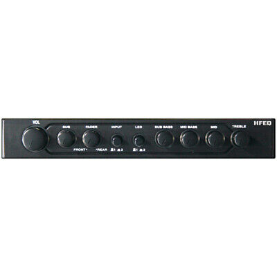 Hifonics Hfeq Equalizer/Crossover 1/2 Din; 4Band Eq; 2-Way Xover