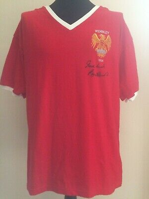Manchester United Retro Wembley 1958 Shirt Signed Bobby Charlton Guarantee