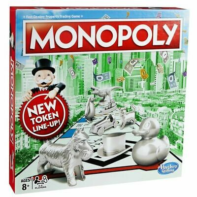 Monopoly Classic New Token Line-Up Board Game Brand New Sealed