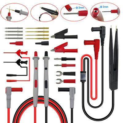 21 in 1 Multimeter Test Lead Kit Electrical Alligator Clip Test Probe Tool Hot