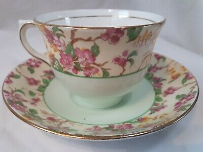 Colclough Tea Cup And Saucer Bone China Chintz