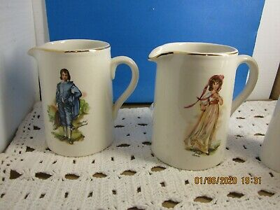 LOT  vintage PITCHER LORD NELSON BLUE BOY- PINKY LAWRENCE 2 PITCHERS.