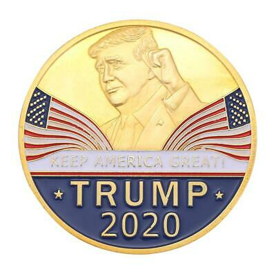 Trump National Flag Gold Plated Commemorative Coin Souvenir Collection Gift Good