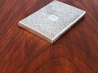 ~ Taylor & Perry William Iv English Sterling Silver Card Case Birmingham 1835