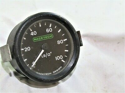 Classic Racetech 100 Lb Oil Pressure Gauge Fit Race Rally Car Mini Mg Kit Car