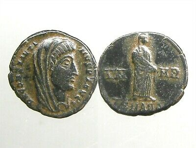 CONSTANTINE I THE GREAT AE4________Death Commemorative________VEILED CONSTANTINE