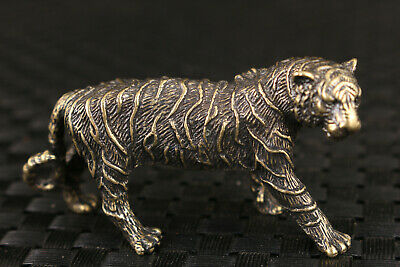 chinese old bronze hand carving tiger statue collectable figure gift