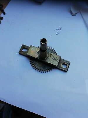 UsedLONG CASE CLOCK MOVEMENT FRONT BRIDGE BLOCK PARTS SPARES REPAIRS GRANDFATHER