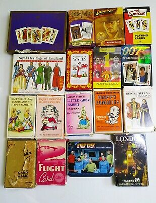 Collection Of Themed Playing Cards. Flight Card Game. Belisha