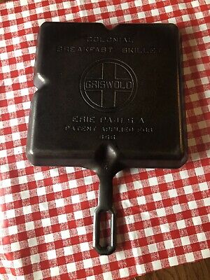 Vintage Griswold No. 666 Cast Iron Colonial Breakfast Skillet, Large Logo