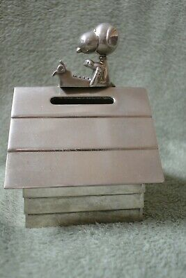Snoopy Peanuts Silver Plated Bank