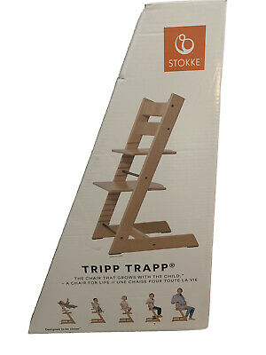 Tripp Trapp By Stokke Adjustable Wooden Storm Grey High Chair Nib (Chair Only)