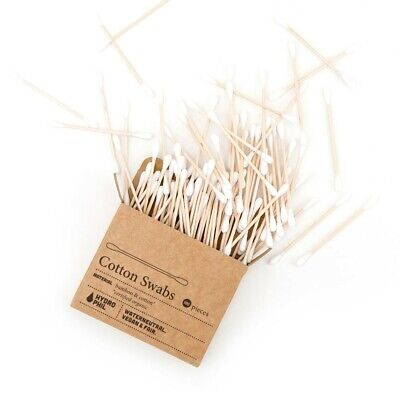 Hydophil Cotton Swabs - 100% Biodegradable, Bamboo, 100 pieces per package