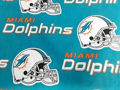 """miami dolphins cotton fabric  9""""×58"""" 1/4yd"""