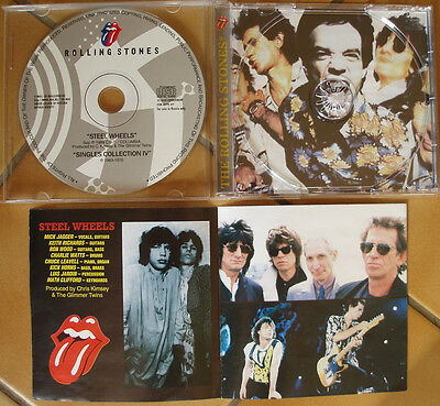 "ROLLING STONES  PRESSAGE RUSSE "" STEEL WHEELS""  + 7 titres SINGLES COLLECTION IV"