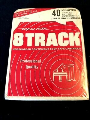 8 TRACK TAPE Blank REALISTIC 44-840A STILL SEALED