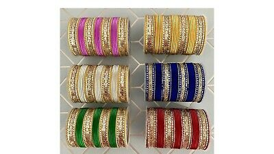 Costume Fashion bangle indian bollywood 32 chudi chudiya 2.4 Size