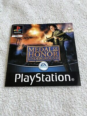 Medal Of Honor Underground PS1 Manual Only Excellent Condition - Free Delivery!