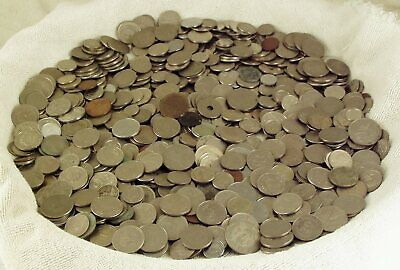 UNSEARCHED  7  lbs or POUNDS  WORLD  FOREIGN  COINS  LOT back to 1930's  LOOK